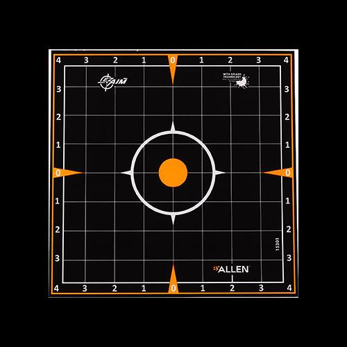 EzAim Splash Sight-In Grid Adhesive Targets 8x8 6pk