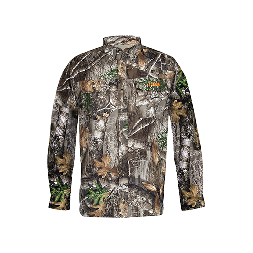 Habit Hatcher Pass Camo Guide L/S Shirt Realtree Edge Medium