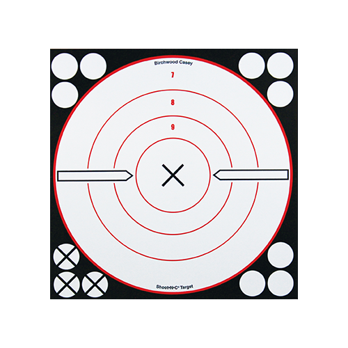 Birchwood Casey Shoot-N-CTarget 8in Black/White X-Bull 6pk