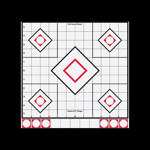 Birchwood Casey Shoot-N-CTarget 8in Black/White Sight-In 5pk