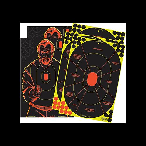 BC Shoot-N-C Target Combo Set 12x18 Bad Guy Silhoutte/Handgun