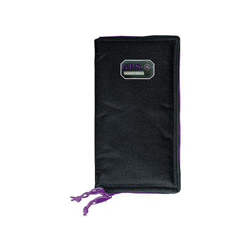 GPS Pistol Sleeve Black Medium w/Locking Zippers