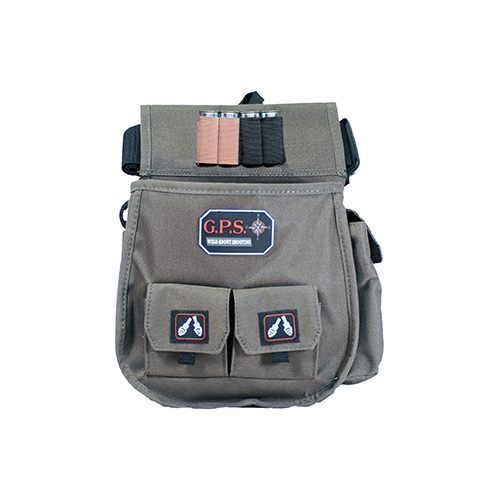 GPS Sporting Clays Deluxe Double Shell Pouch Olive w/Belt