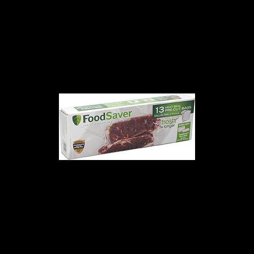 Food Saver PreCut Bags 8x14in Gallon 13pk