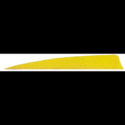 Gateway Shield Cut Feathers Neon Yellow 5 in. RW 50 pk.