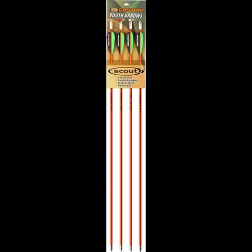 """Scout II Fiberglass Arrows 28"""" w/3"""" Vanes"""