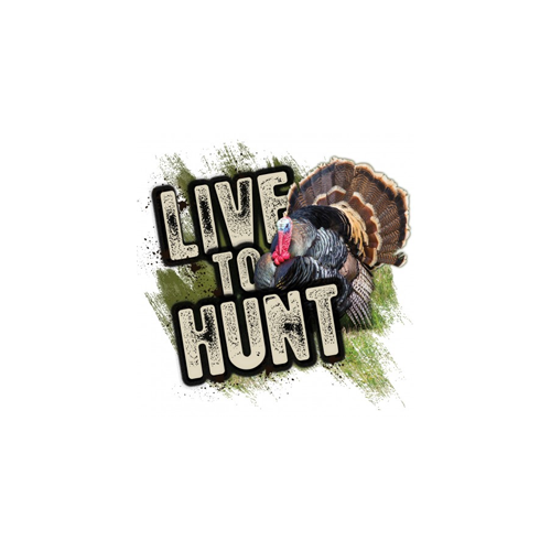 Live to Hunt Series Turkey Decal