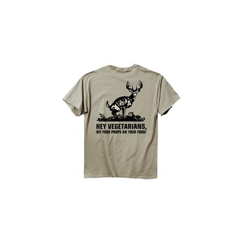 Food Poops Short Sleeve Tshirt Prairie Dust Large