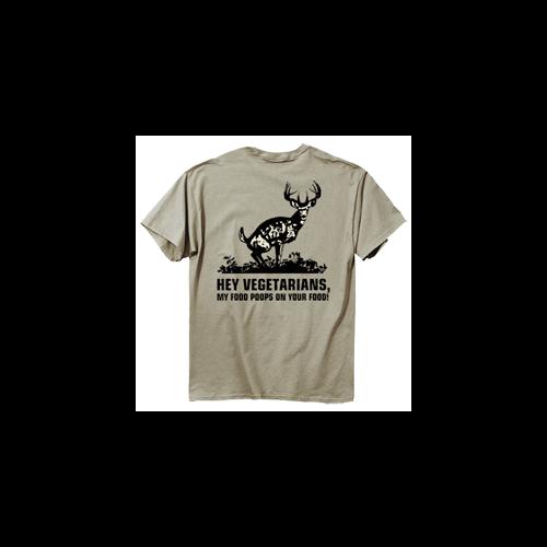Food Poops Short Sleeve Tshirt Prairie Dust 2X