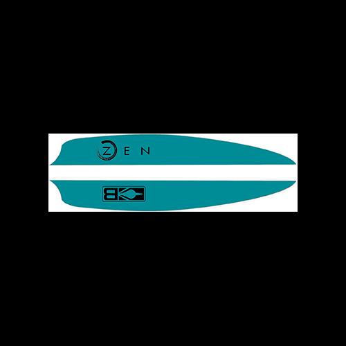 Bohning Zen Vanes Teal 4 in. 100 pk.