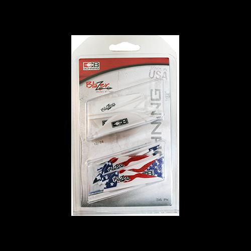 Bohning Blazer Vane Combo White/American Flag 36 pk