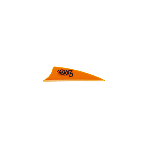 Bohining X3 Vane Neon Orange 1.75in. 100 pk.