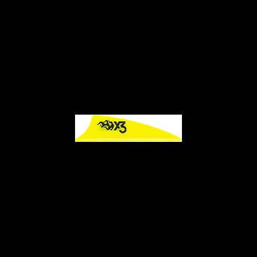 Bohining X3 Vane Neon Yellow 1.75in. 100 pk.