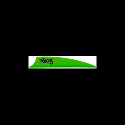 Bohining X3 Vane Neon Green 2.25in. 100 pk.