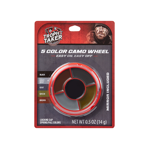 Trophy Taker Ambush Facepaint 5-Color Camo Wheel