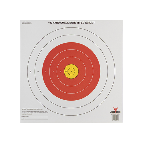 3006 Small Bore Rifle Target 20pk.