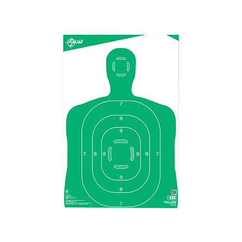 Allen EzAim Silhouette Paper Target Green 12x18 10pk.