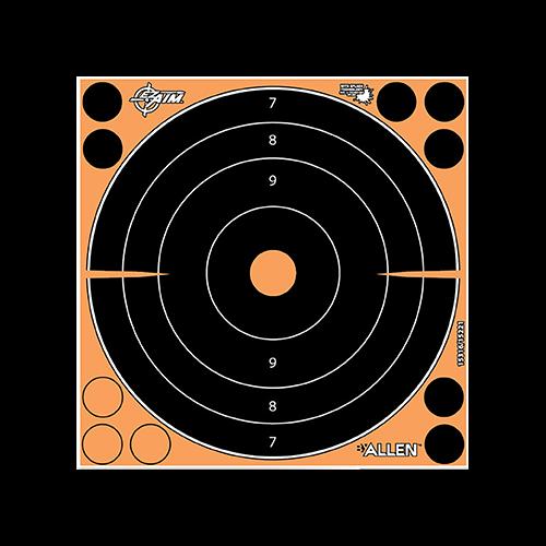 Allen EzAim Splash Bullseye Paper Target 8x8 30pk.