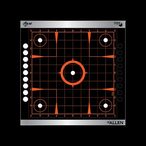 Allen EzAim Sight-In Grid Adhesive Target 12x12 4pk.