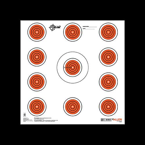 Allen EzAim 11 Spot Indoor Paper Target 12x12 13 pk.