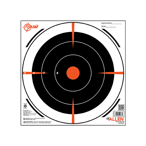 Allen 8 in. Bullseye Paper Target 26 pk.
