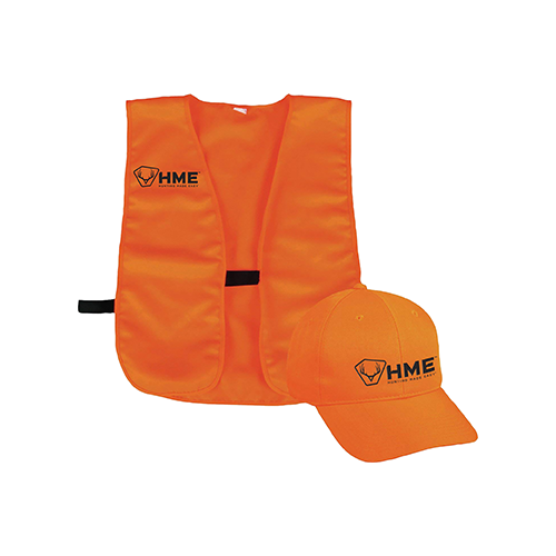 HME Orange Vest & Hat Combo One Size