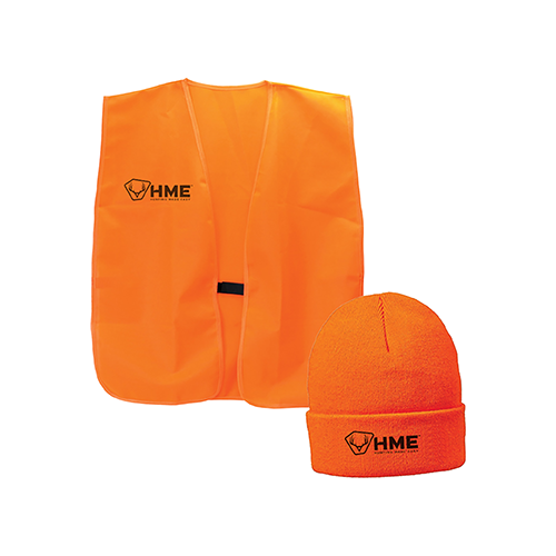HME Orange Vest & Beanie Combo One Size