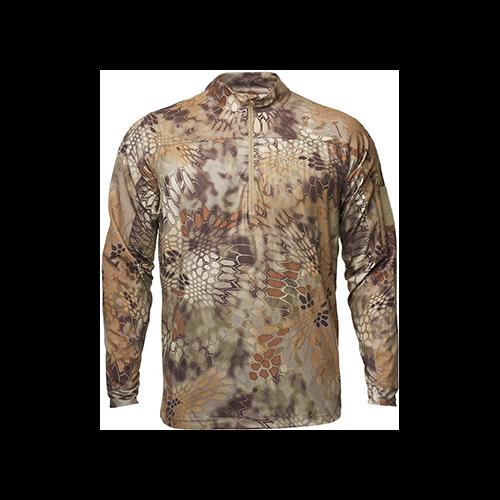 Kryptek Valhalla 2 Long Sleeve Zip Shirt Highlander Medium