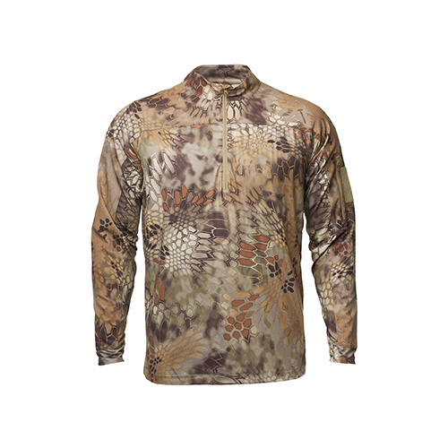 Kryptek Valhalla 2 Long Sleeve Zip Shirt Highlander 2X-Large