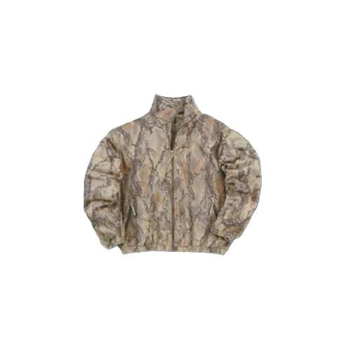 Full Zip Fleece Jacket Natural Camo Large