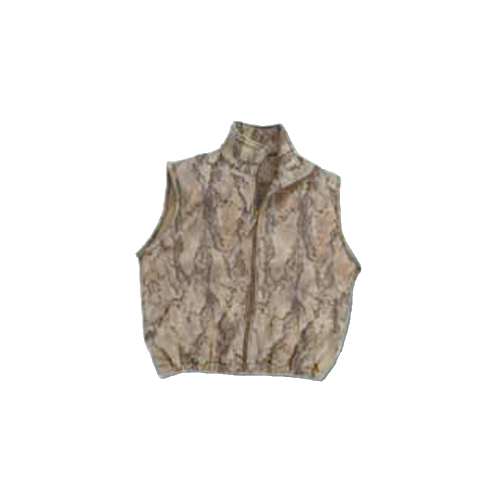 Full Zip Fleece Vest Natural Camo XL