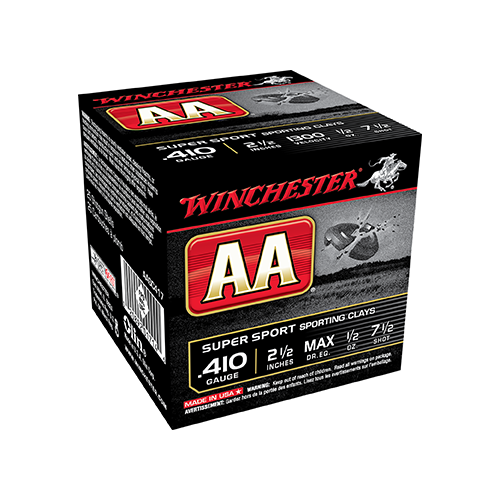 * AA Sporting Clays Load 410ga 3in. 1/2oz 7.5 Shot 25rd