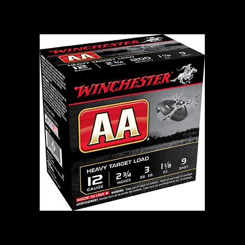 * AA Heavy Target Load 12ga 2.75in. 1 1/8oz 9 Shot 25rd