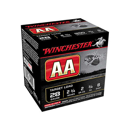 * AA Target Load 28ga 2.75in. 3/4oz 8 Shot 25rd