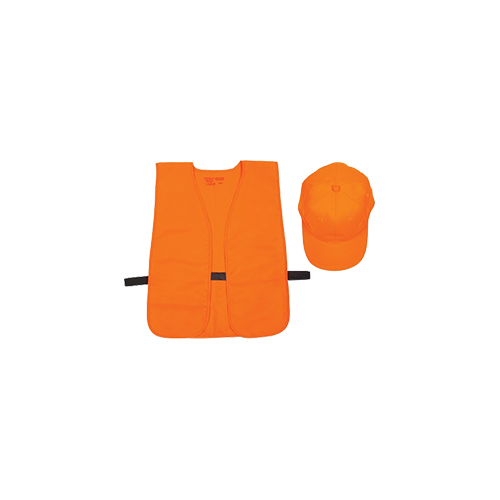 Allen Hat & Vest Combo Orange Medium - XL (OSFA)