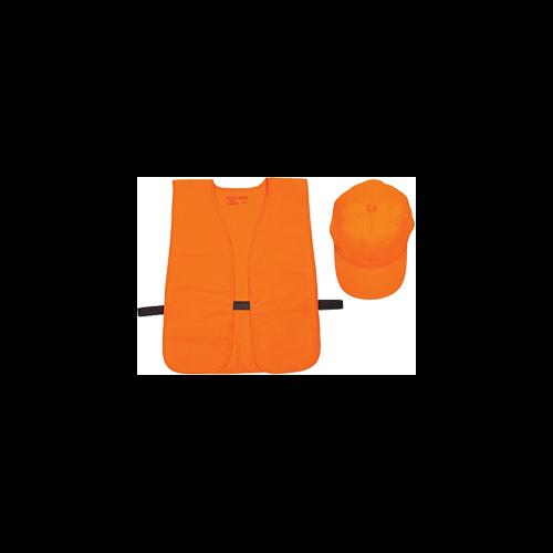 Allen Hat & Vest Combo Orange Medium - XL (OSFA)