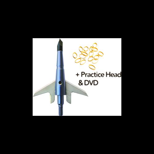 "Swhacker 100gr Xbow Broadhead 1.75"" Cut w/Practice Head & DVD"