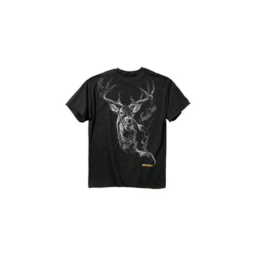 Smoke Deer Tshirt Large Black