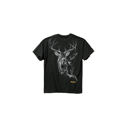 Smoke Deer Tshirt Black 2X