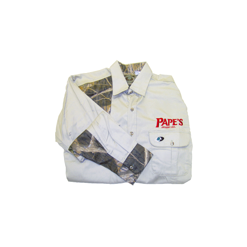 Pape's Shooters Shirt Small Khaki/Breakup Accents