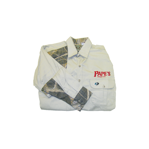 Pape's Shooters Shirt Large Khaki/Breakup Accents