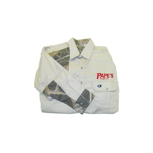 Papes Shooters Shirt XXLarge Khaki/Breakup Accents