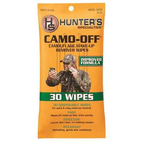 Hunters Specialties Camo-Off Makeup Remover Wipes 30 pk