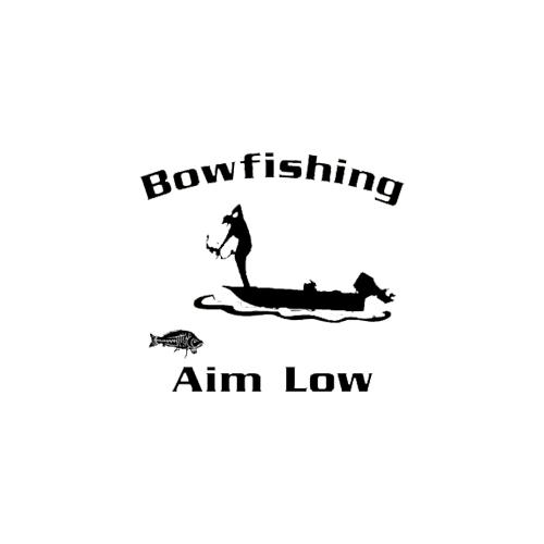 Bowfishing Decal White 5.5x6