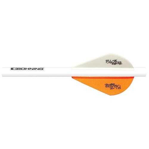 Bohning Blazer QuickFletch Neon Orange/White 6 pk.