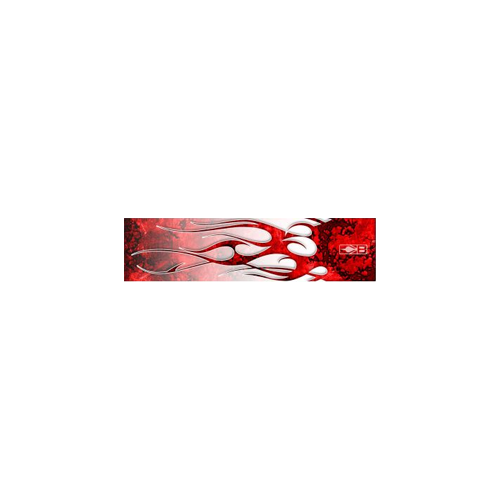 "Blazer Wrap 4"" Red Rusted Flame HD"