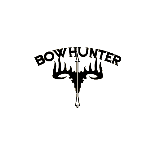 Bowhunter Skull Decal 5x6