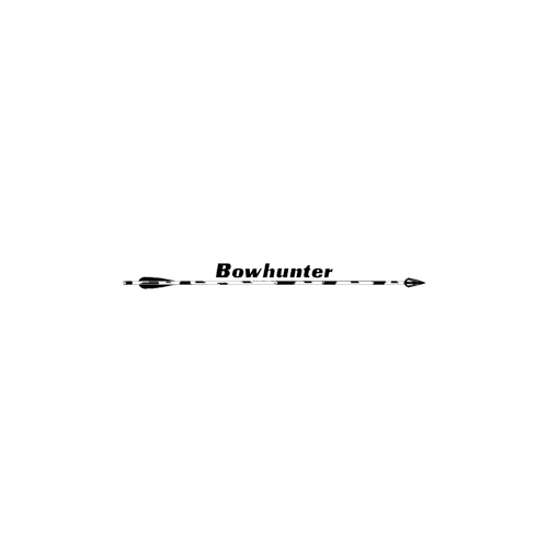 Bowhunter & Arrow Decal 4x36