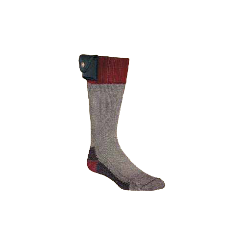 Lectra Sox Hiker Boot Style Grey/Maroon Large/XL