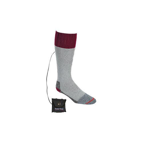 Lectra Sox Wader Style Sock Medium Gray/Maroon